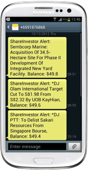 Free SMS Alerts